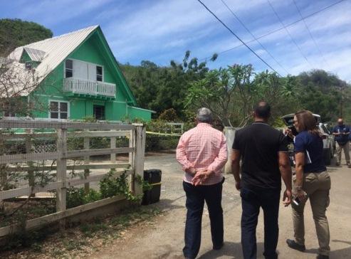 El superintendente José Luis Caldero llegó a la escena de la masacre de Cabo Rojo (Suministrada Policía).