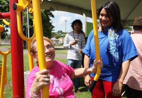El gimnasio al aire libre está en el parque de la urbanización Valle Hermoso Abajo de Hormigueros (Suministrada).