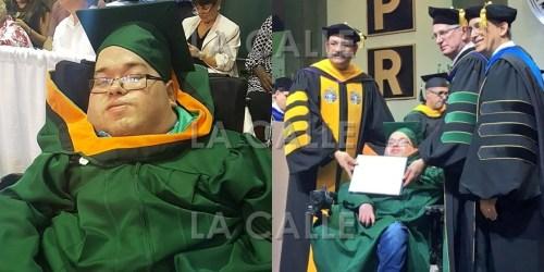 Kristopher E. Santiago Pérez recibió su diploma tras graduarse de Ingeniería Química en el RUM (Suministradas Prensa RUM).