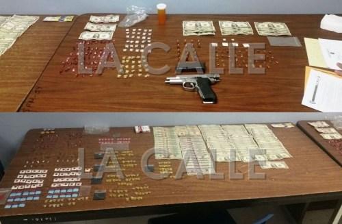 Drogas, dinero y arma ocupados en Mayagüez (Suministradas Policía).