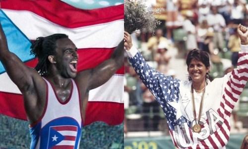 """El luchador olímpico Jaime Espinal y la tenista Beatriz """"Gigi"""" Fernández (Archivo)."""
