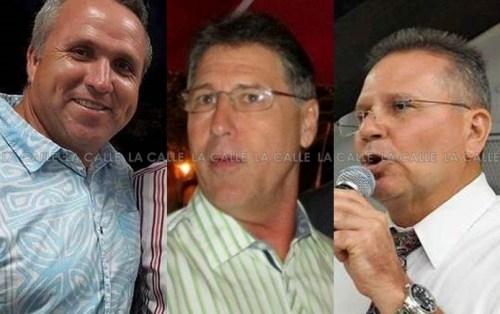 De izquierda a derecha, el candidato del PNP, Jorge Morales Wiscovitch; el alcalde del PPD, Roberto Ramírez Kurtz; y el representante novoprogresista, José Aponte Hernández (Archivo).