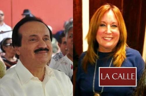 El alcalde de Mayagüez, José Guillermo Rodríguez, y la meteoróloga y activista ambiental Susan Soltero (Archivo).