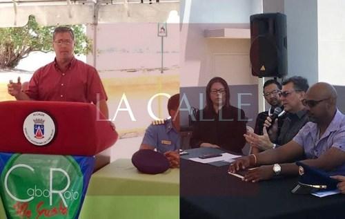 Los alcaldes de Cabo Rojo e Isabela, Roberto Ramírez y Carlos Delgado Altieri, ofrecen detalles, en sus respectivas conferencias de prensa, sobre los planes de seguridad en Semana Santa (Suministradas).