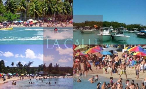 Las concurridas playas del Oeste en temporada alta, como Semana Santa (Archivo).