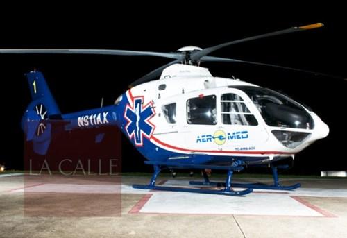El herido fue trasladado en ambulancia aérea al Centro Médico de Río Piedras (Archivo).