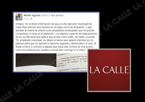 Captura de pantalla de las expresiones de licenciado Martín Aguilar (Fuente/Facebook).