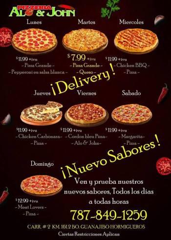 alo & john ofertas de pizzas 2018
