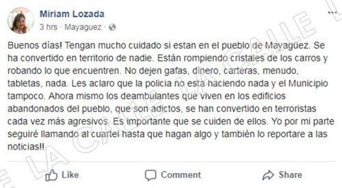 screenshot Miriam Lozada Facebook wm