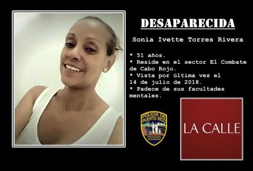Sonia Ivette Torres Rivera desaparecida logo