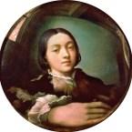 Parmigianino, Selbstportrait in Hohlspiegel
