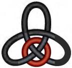 Kleeblattknoten - falsch mit Reparatur (zu: Knotentheorie von Jacques Lacan)