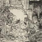 Rembrandt van Rijn - Die Anbetung der Hirten - 1654