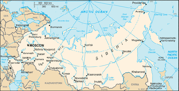 Sibirien mit Polarkreis (zu: Jacques Lacan, Lituraterre - Buchstabe vs. Signifikant)