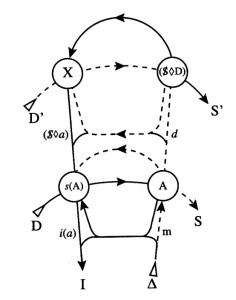Graph des Begehrens mit x