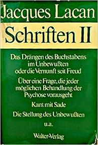 Titelseite von Jacques Lacan: Schriften II, Haas-Ausgabe, Walter-Verlag 1975