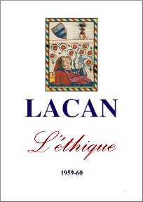 Jacques Lacan, Seminar 7, L'éthique, Staferla 2015, Titelseite