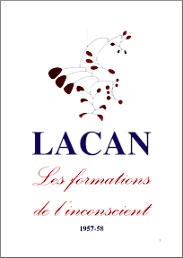 Jacques Lacan, Seminar 5, Les formations, Staferla 2015, Titelseite
