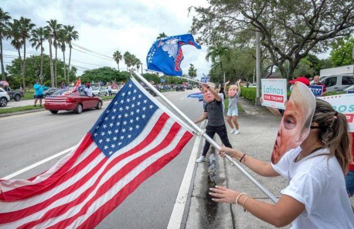 Caravana de apoyo a la reelección de Trump