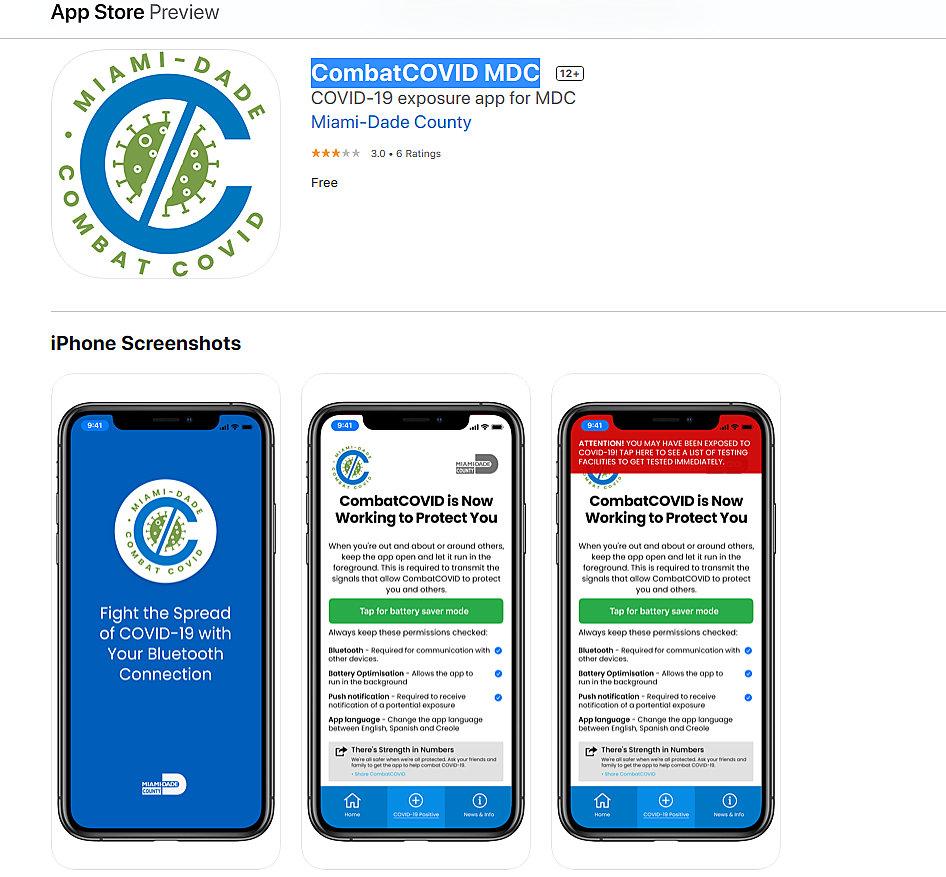 El Condado de Miami-Dade lanza la aplicación CombatCOVID MDC para cuidar la salud de la comunidad
