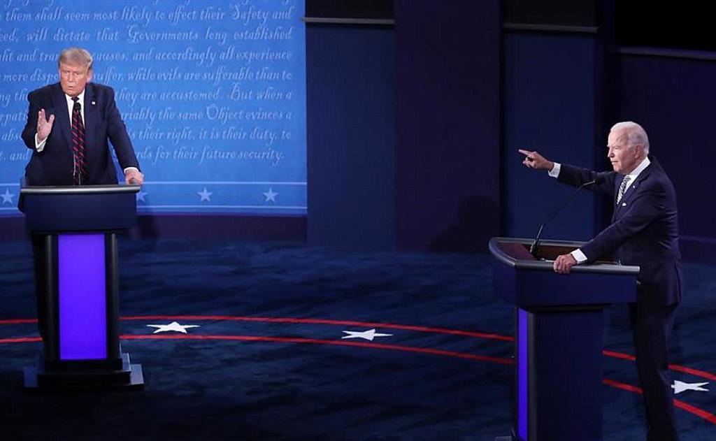 Trump y Biden se enfrentaron en un primer debate con ataques feroces y con muchas interrupciones