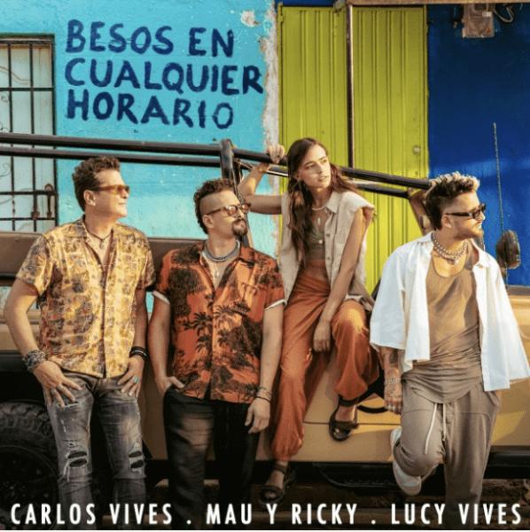 """Carlos Vives lanzó """"Besos en cualquier horario"""" junto a Mau y Ricky y Lucy Vives"""