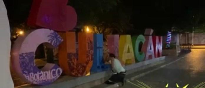 Pareja se graba teniendo relaciones sexuales en letras emblemáticas de Culiacán