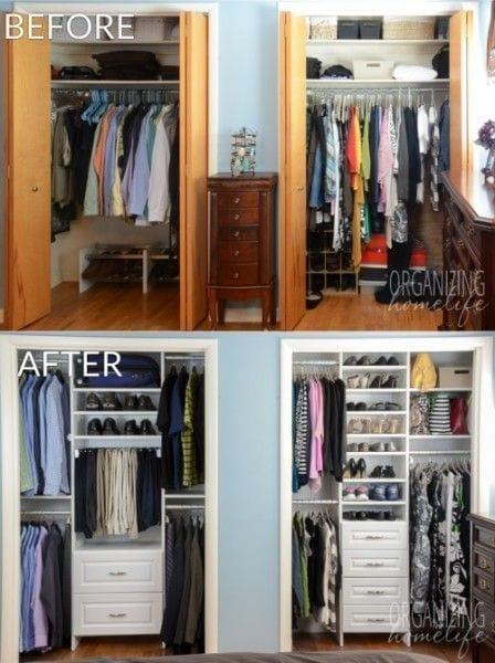 Cmo organizar un armario pequeo con mucha ropa  La
