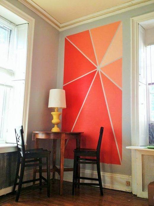 Ideas para pintar paredes de forma original  La cartera rota