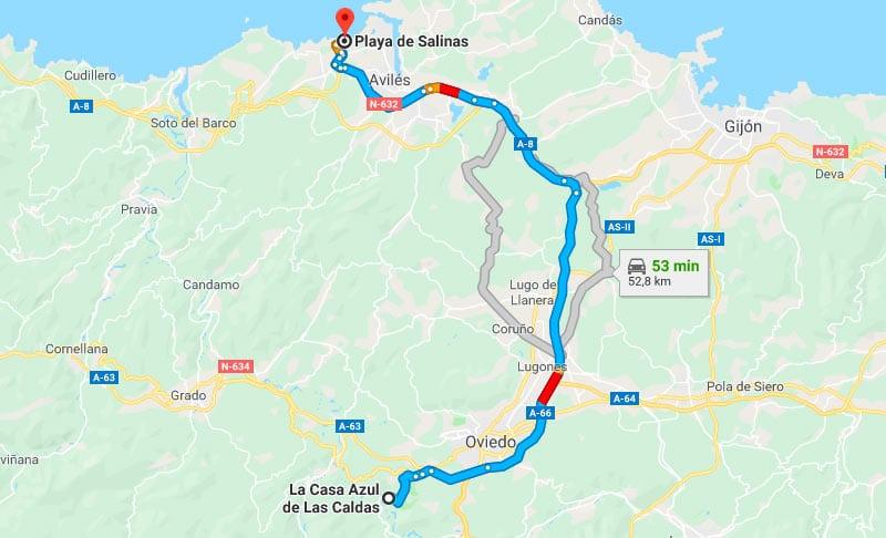 Mejores Playas de Asturias - Playa de Salinas desde Las Caldas de Oviedo