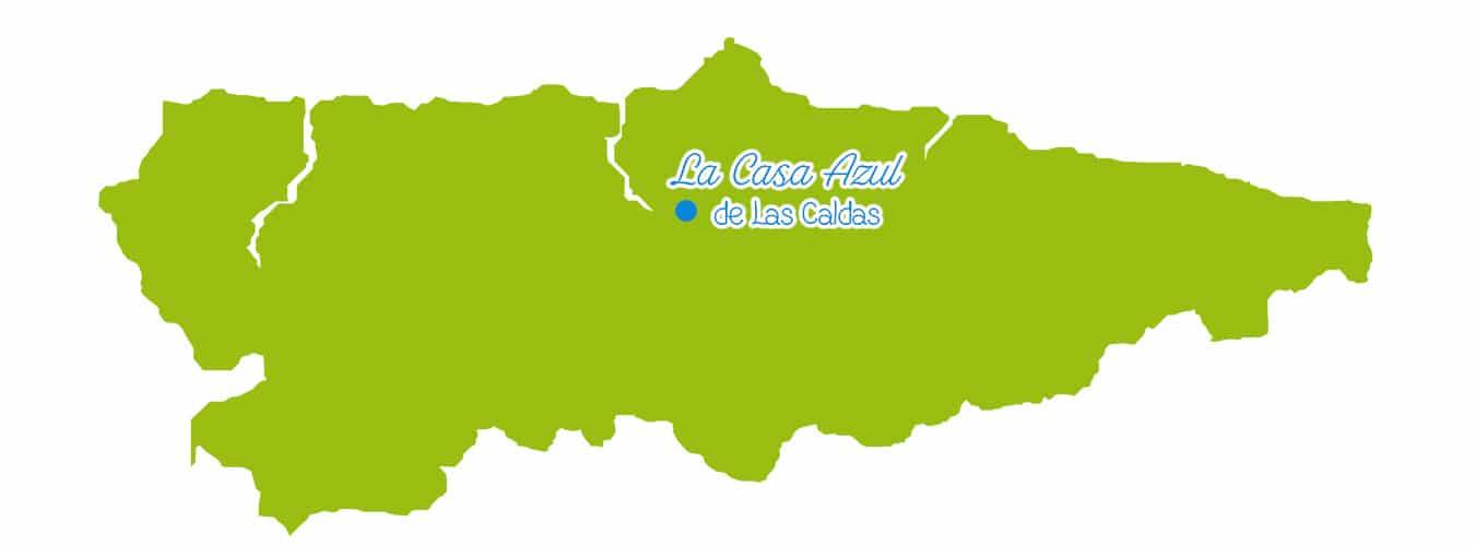 Que ver en Asturias - La Casa Azul de Las Caldas