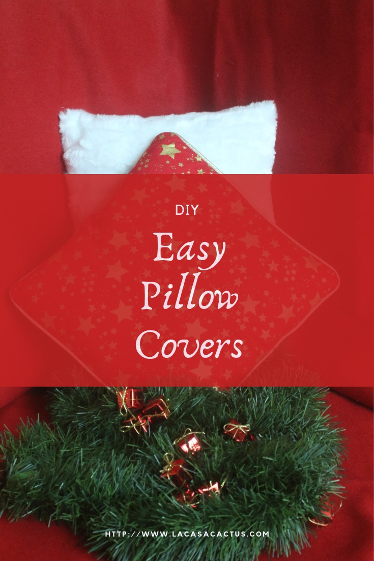 Easy Pillow Cover For Christmas A Diy By La Casa Cactus