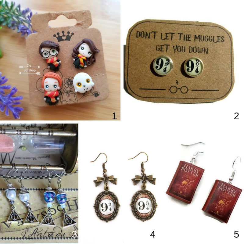 Harry Potter earrings boucles oreilles