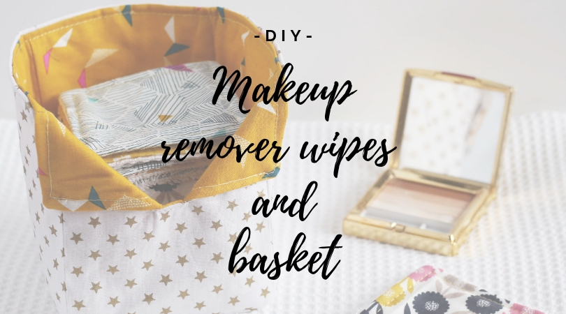 Makeup remover wipes and bag DIY, La Casa Cactus