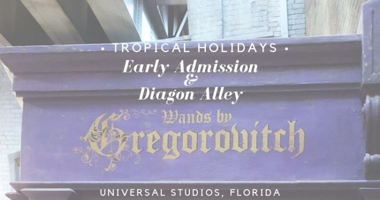 Universal Studios Florida, Early Admission, and Diagon Alley