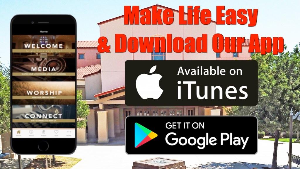 La Casa de Cristo Phoenix, Arizona, Lutheran Church Mobile App Download on Google Play and Apple iOS