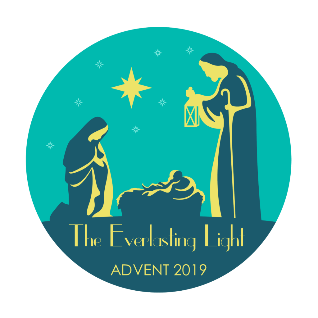 Advent 2019 graphic CIRCLE FORMAT - The Everlasting Light