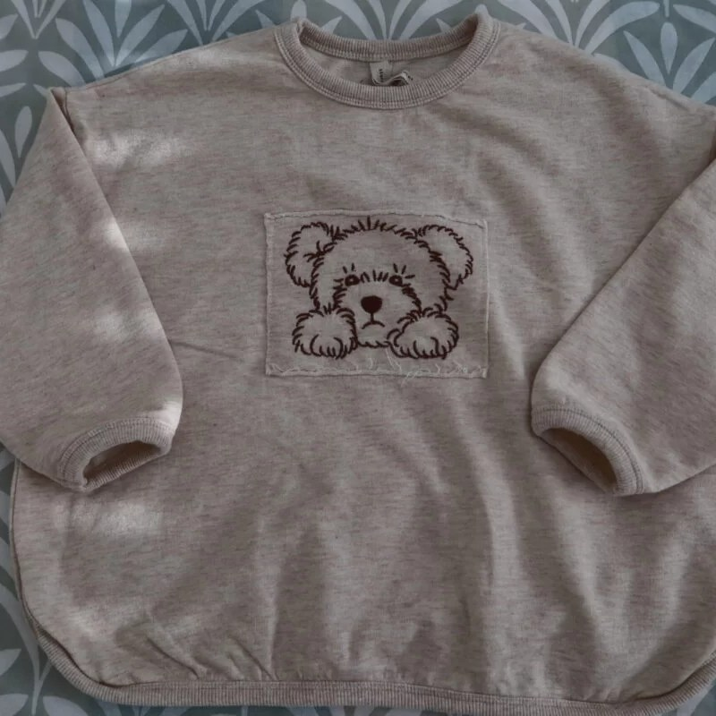 Toto embroidery tee natural La Camel