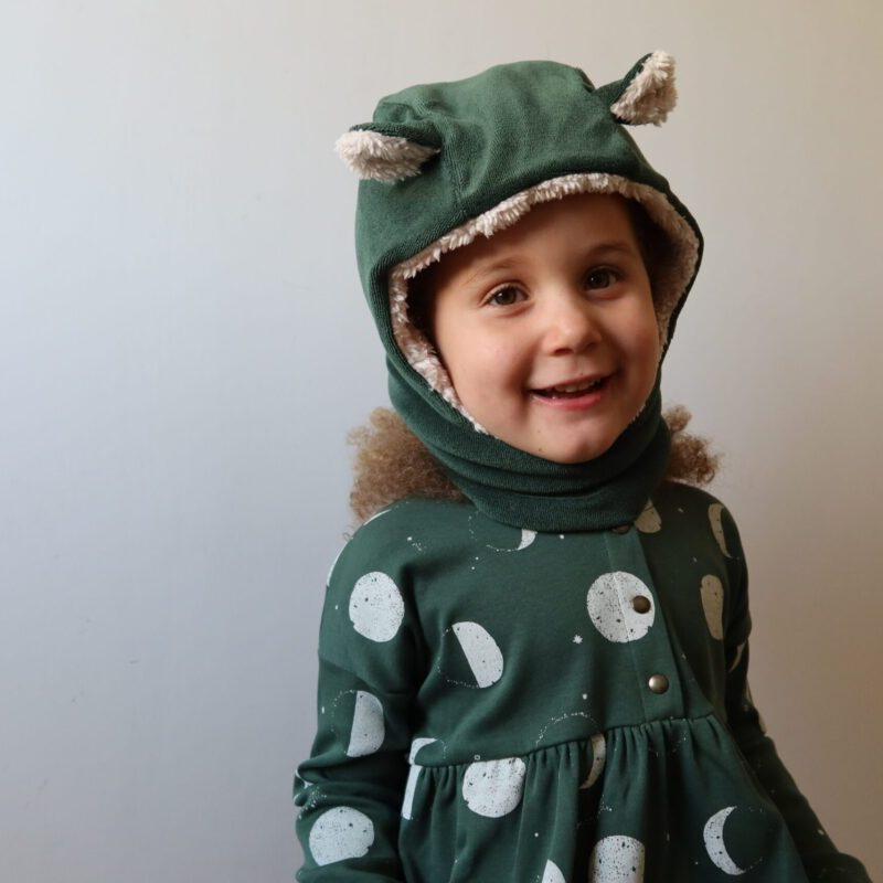 Cagoule théophile pin 2-8 ans Minabulle