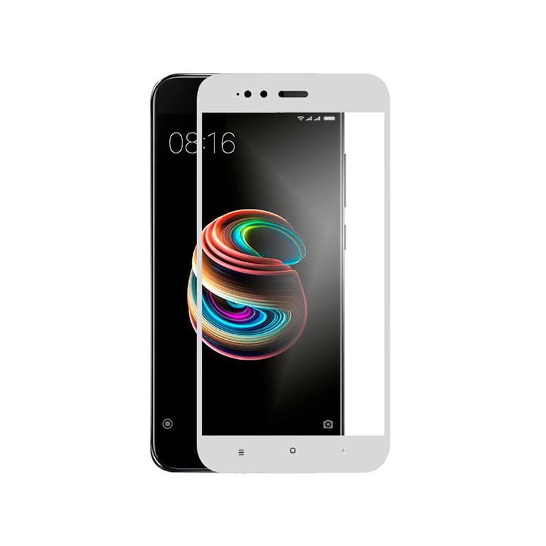 Cristal Templado Completo Blanco Xiaomi Mi A1