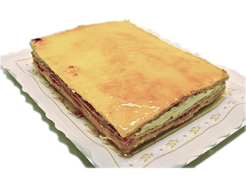 Tarta de Hojaldre Crema y Nata