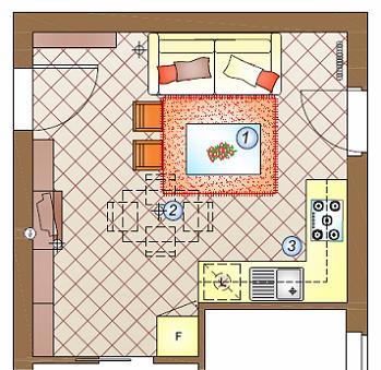 cucina, pranzo e soggiorno in 26 mq. Un Mini Appartamento Da Arredare Pranzo Soggiorno Cucina In 20 Mq La Casa Giusta