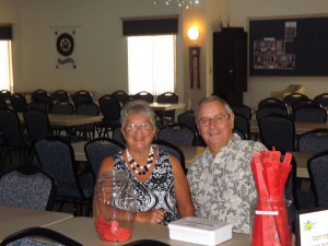 Board member Dan Smith and his wife, Linda, were in charge of selling 50/50 tickets to the crowd.