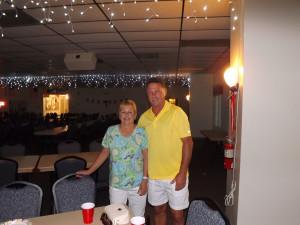 HOA board chairman, Randy Burlison and wife Fran, arrive for the festivities.