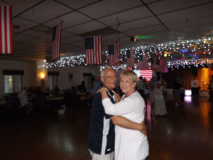 Paul Stevens, head of La Casa's Veterans Club, dances with wife Laura.