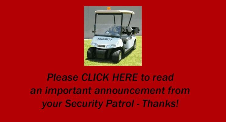 Security Patrol Volunteers Needed – May 2018