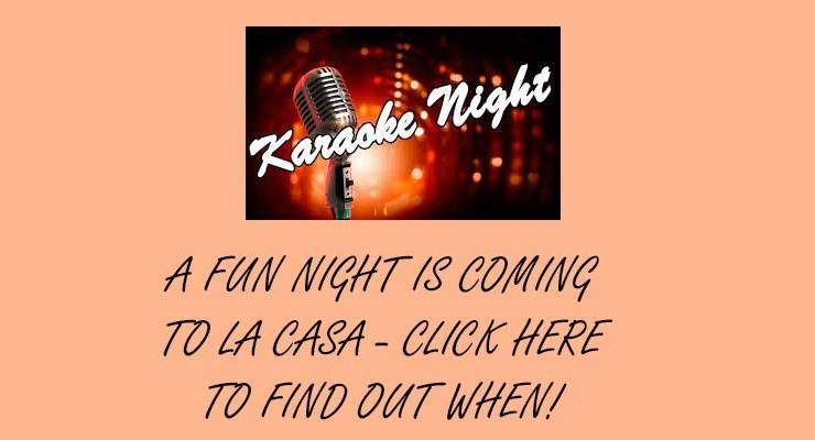 Karaoke Night – July 21, 2018