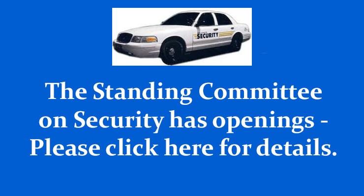 Security Committee Openings