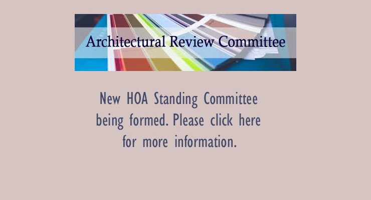 Archectural Review Committe Being Formed