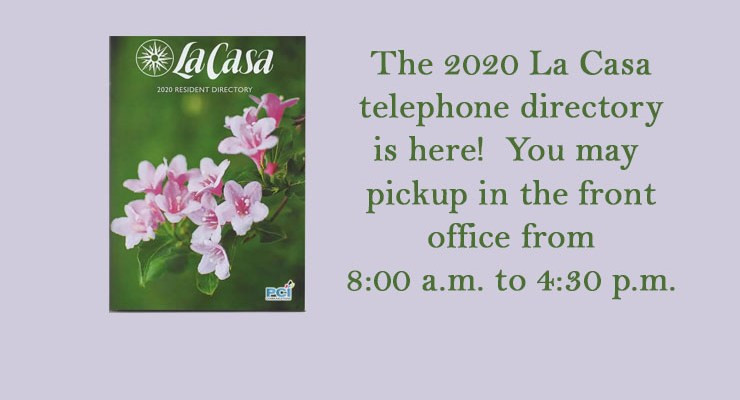 2020 Telephone Directories are here!